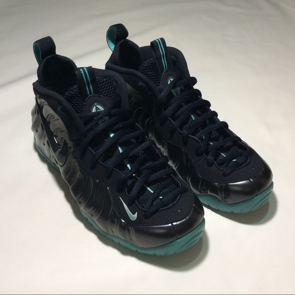 buy online 2a9ef 0713a Nike Air Foamposite Pro Dark Obsidian Light Aqua